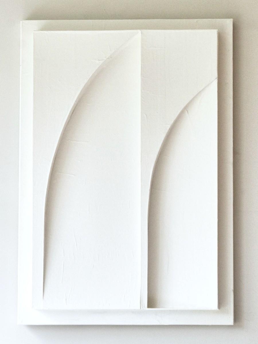 Art in Return White giant leaves front