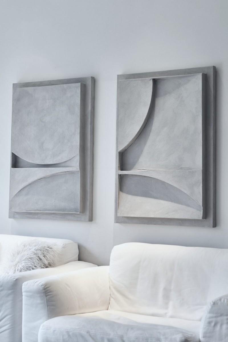 Giant grey sunset pair